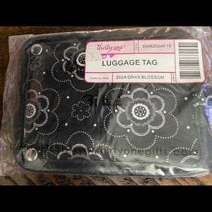🦋4/$20 Thirty One Luggage Tag ONYX BLOSSOM NIP